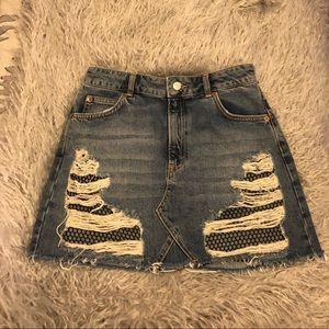Topshop MOTO Mesh Mini Skirt